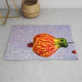 Stained glass and flower pendant Rug