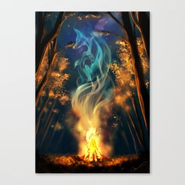 Fox spirit Canvas Print