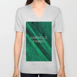 green velvet fabric gabrielle Unisex V-Neck