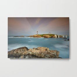 Idyllic view on seashore of Pancha island in Spain at sunset Metal Print
