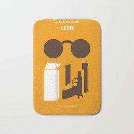 No239 My LEON minimal movie poster Bath Mat