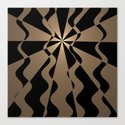 Trendy abstract in gold and black by walstraasart