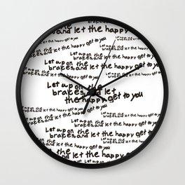 Personalized Art - Happiness Wall Clock