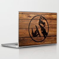snowboarding Laptop & iPad Skins featuring snowboarding 1 by Paul Simms