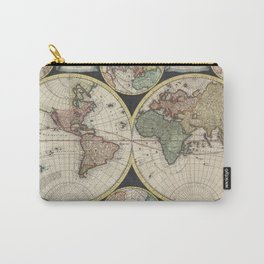 Vintage Map of The World (1696) Carry-All Pouch