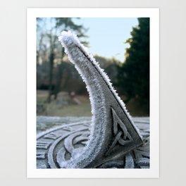Sundial Frost Art Print