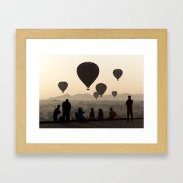 Hot-air Balloons over Bagan, Myanmar Framed Art Print