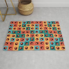 Red apples pattern Rug