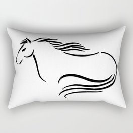 Swift Mare Stylized Inking Rectangular Pillow