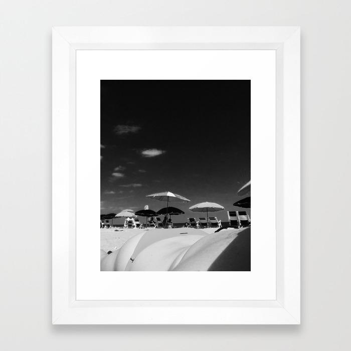 Ass By The Ocean Framed Art Print By Feline666 Society6
