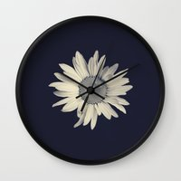 daisy Wall Clocks featuring Daisy  by Marianne LoMonaco