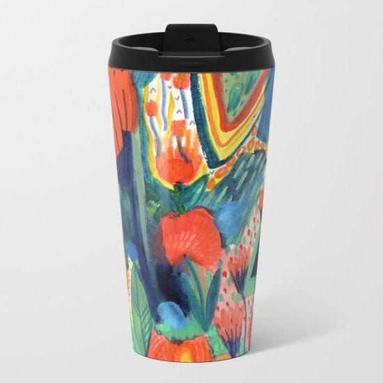 Wild Flowers Metal Travel Mug