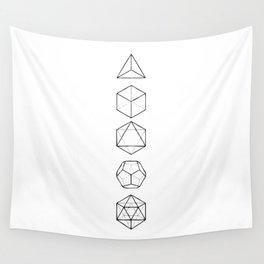 Platonic Solids Geometric Print Wall Tapestry