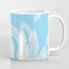 Baby blue feathers Coffee Mug