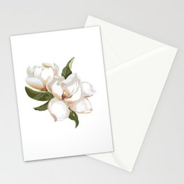Love Of Nature... Gorgeous Creamy-white Magnolia Flowers Stationery Cards