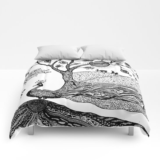 Peacock Fantasy Comforters