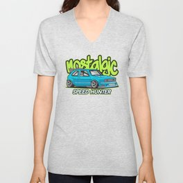 Sport Car Illustration Unisex V-Neck
