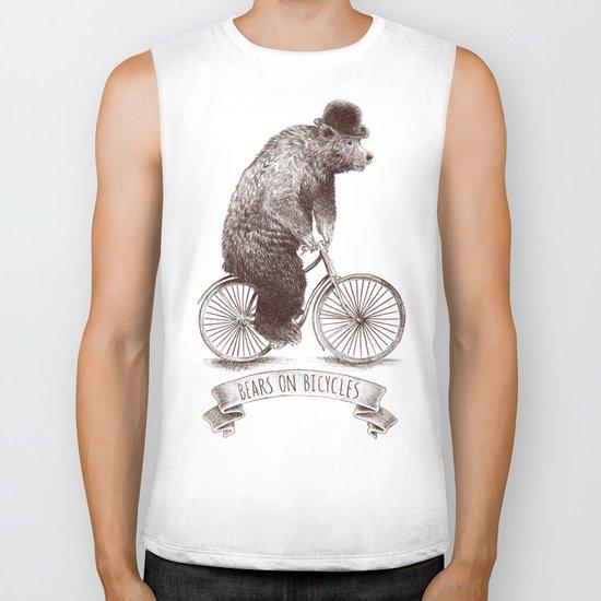 Bears on Bicycles Biker Tank