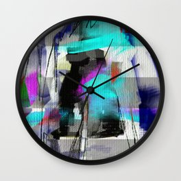 The river laughs of wet pines, this spring, sound tumult of water. (Haiku series n.2) Wall Clock