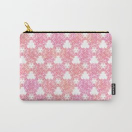 Autumn Thistle in Orange and Pink Carry-All Pouch
