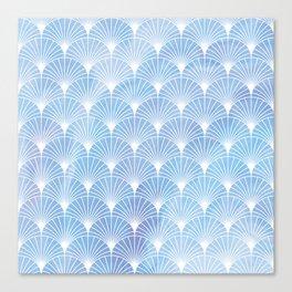 Mermaid Fans: Soft Hydrangea Canvas Print