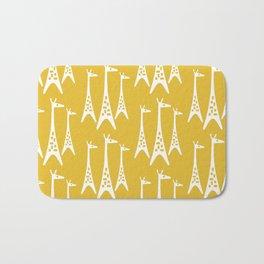 Mid Century Modern Giraffe Pattern 221 Mustard Yellow Bath Mat