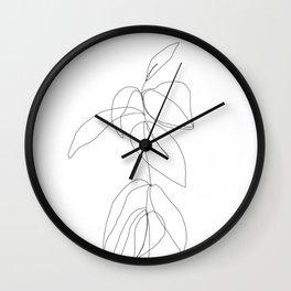 Still life plant drawing - Caca Wall Clock