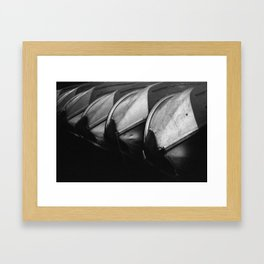 Row Boats 3 Framed Art Print