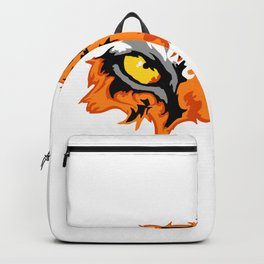 A Picture Of A Large Tiger Eye Lurking About Prey Funny Backpack