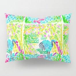 Asian Bamboo Garden in Sunset Watercolor Pillow Sham