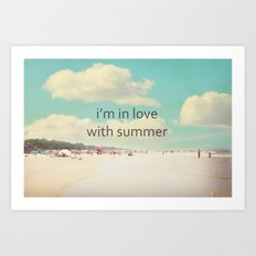 i'm in love with summer Art Print