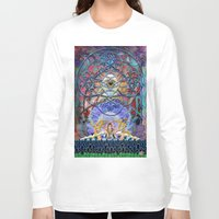 shiva Long Sleeve T-shirts featuring Space Shiva by BradButler