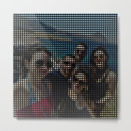 Social Surface - Friends on the beach Metal Print