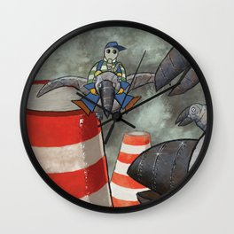 Steelcrows Wall Clock