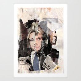 Sarkozy Collage Art Print