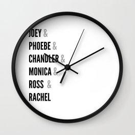 Friends names Wall Clock