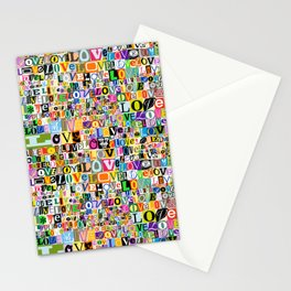 Letters of L-O-V-E Stationery Cards