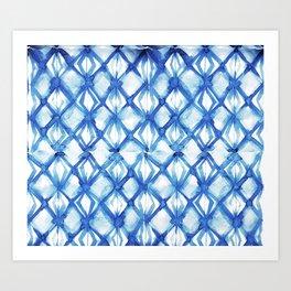 Nautical mermaid scales Art Print