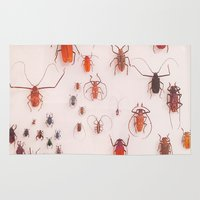 insects Area & Throw Rugs featuring Insects by Poem Ball