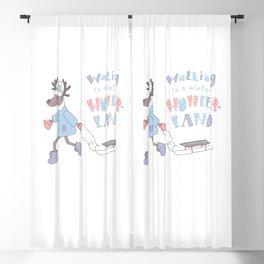 Walking in a Winter Wonderland Blackout Curtain