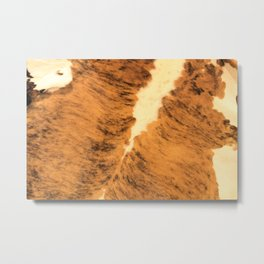 Burnt Orange Texas Longhorn Animal Print Leather Pattern Metal Print