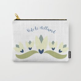 Dutch tulips pale yellow green and blue Carry-All Pouch