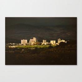 Downtown Reno Skyline Canvas Print