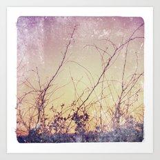 sea plants (purple) Art Print