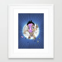 hentai Framed Art Prints featuring KWeb #6 : Hentai Kamen (colors) by Adrien ADN Noterdaem