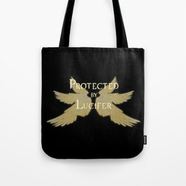 Protected by Lucifer Light Tote Bag