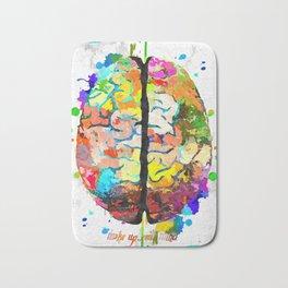 Human Brain Bath Mat