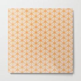 Pink Clay Burnt Orange and Powder Pink Abstract Fox Ears Feminine Arrowhead Cowgirl Southwestern Des Metal Print