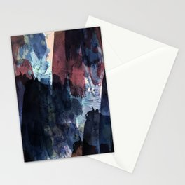 dark blue & marsala Stationery Cards