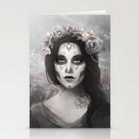 day of the dead Stationery Cards featuring Day of the Dead by Nicolas Jamonneau